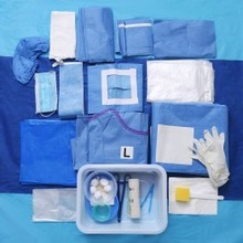 Disposable Sterile Surgical Drape Pack, Surgical Drape Set for Femoral Angiography and Intervention
